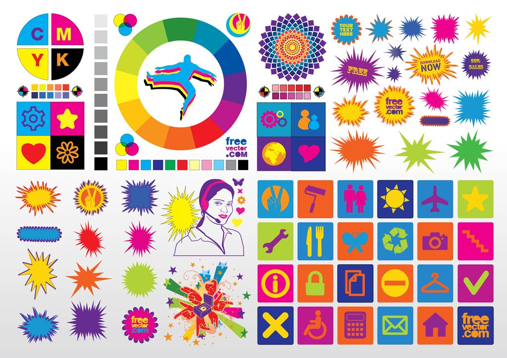 Colorful Vector Clip Art Vector Art & Graphics.