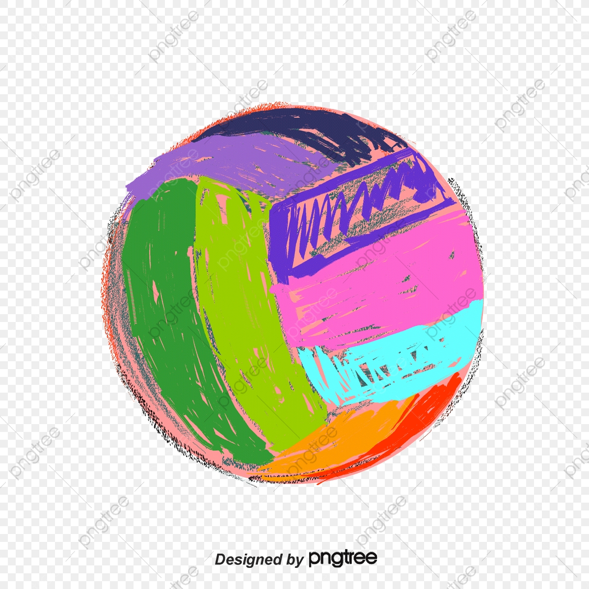 Color Volleyball, Volleyball Clipart, Colored Volleyball, Volleyball.