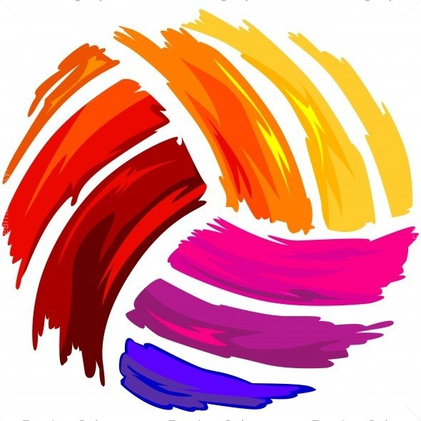 Colorful volleyball clipart 4 » Clipart Portal.
