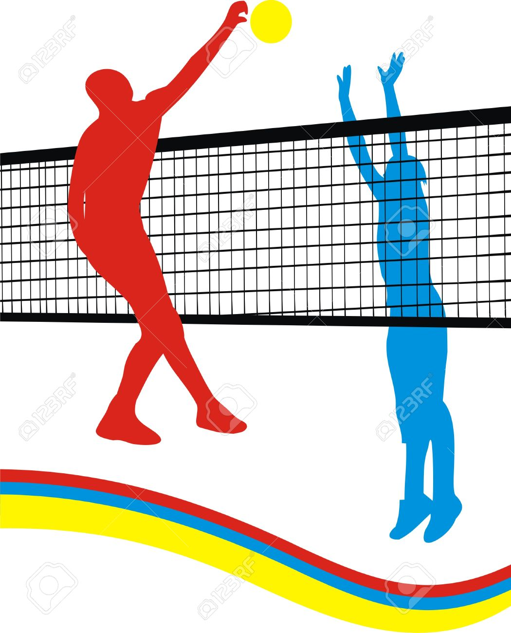 Colorful volleyball clipart 1 » Clipart Station.