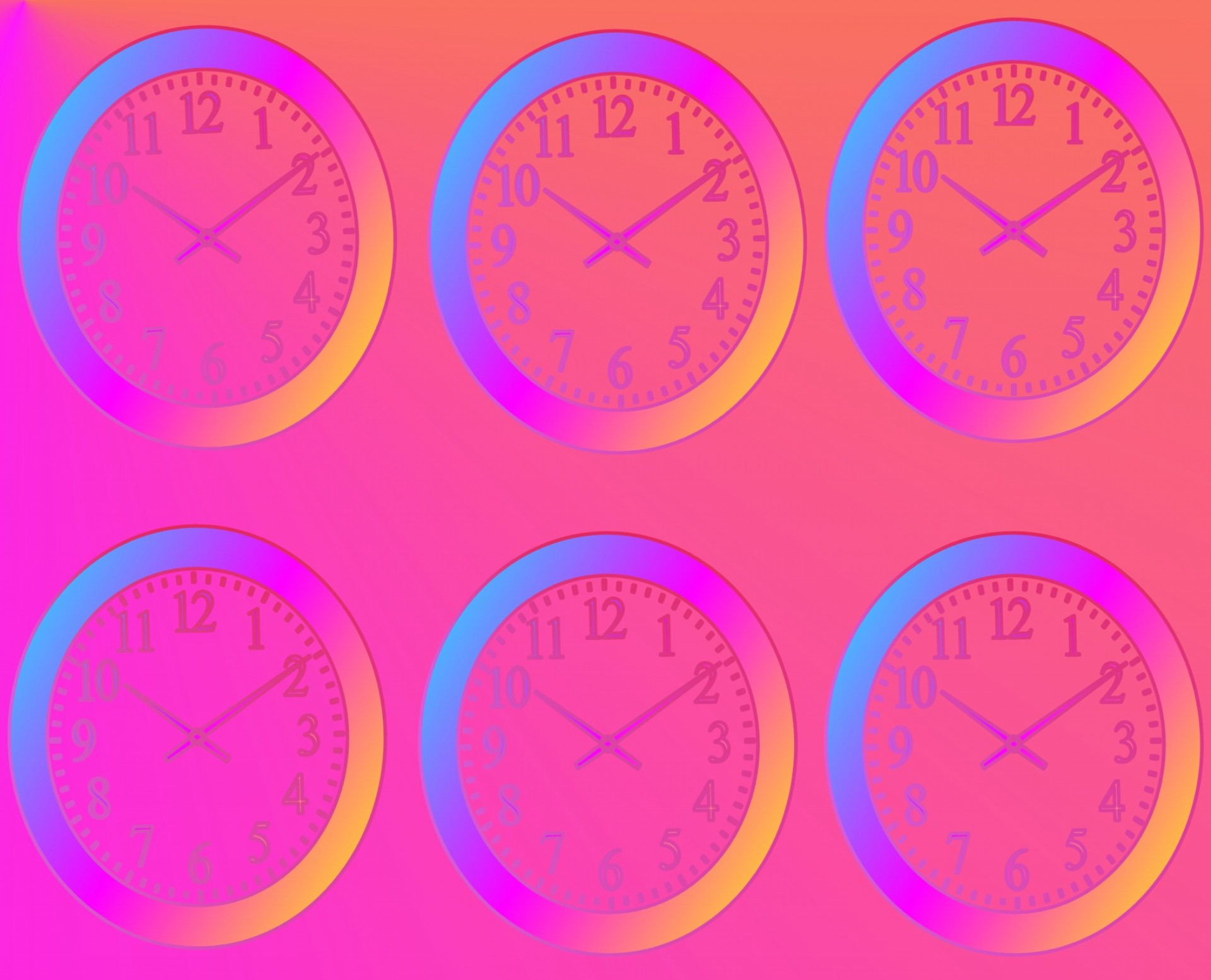 Colorful Wall Clock Clip Art Free Stock Photo.
