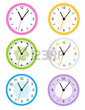 Clock On Wall Cliparts, Stock Vector And Royalty Free Clock On.