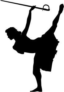 Free Color Guard Girl Silhouette, Download Free Clip Art.