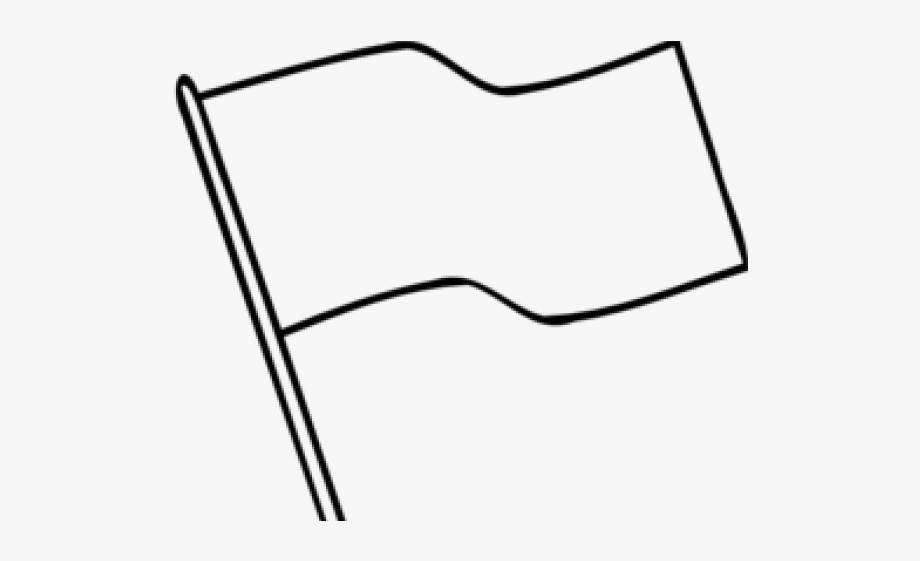 Sign Flag Clipart Outline.