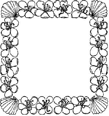 FLOWER BORDER PAGES Colouring Pages.