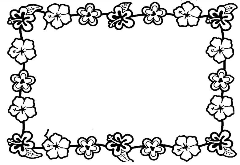 Flower Border Coloring.