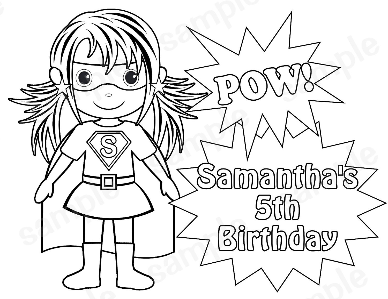 coloring clipart for girl superheros - Clipground