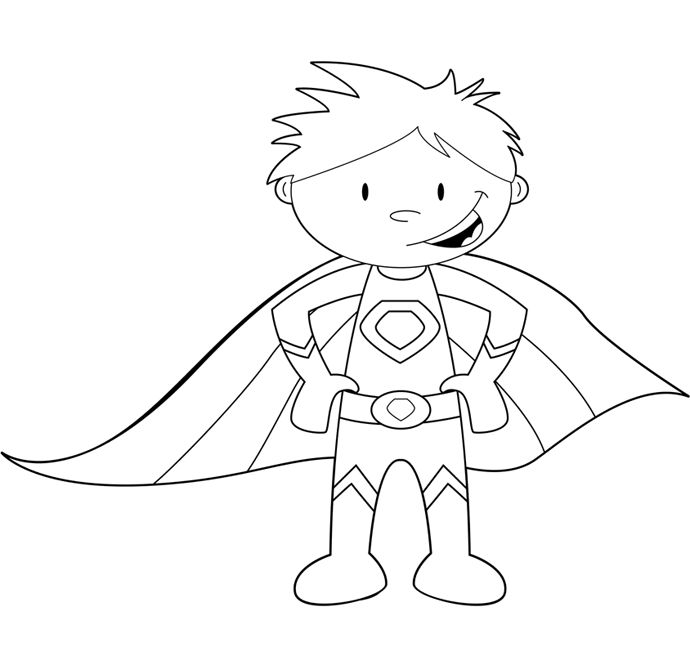 boy superhero coloring pages - photo#26
