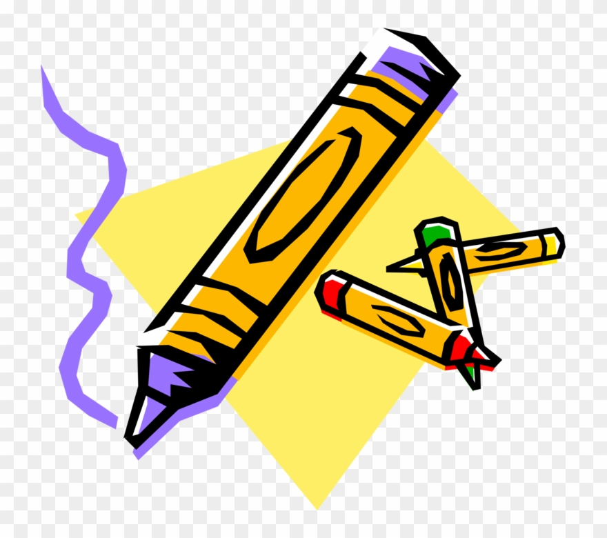 Vector Illustration Of Crayola Children\'s Coloring Clipart.