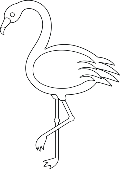 Colorable Flamingo.
