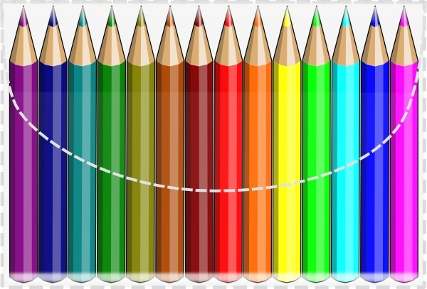 Colouring Pencils clip art Free vector in Open office.