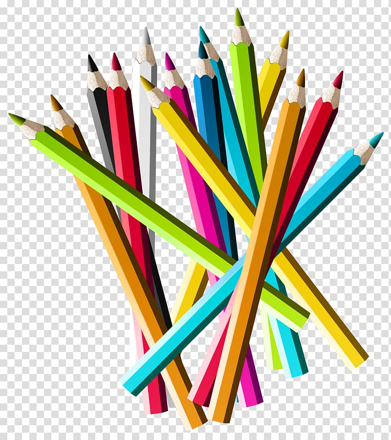 Coloring pencil lot, Colored pencil , Colorful Pencils.