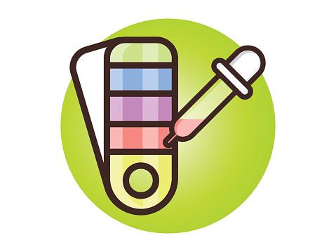 Palette With Color Picker Icon premium clipart.