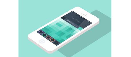 Color Picker Mobile App Concept, free vector.
