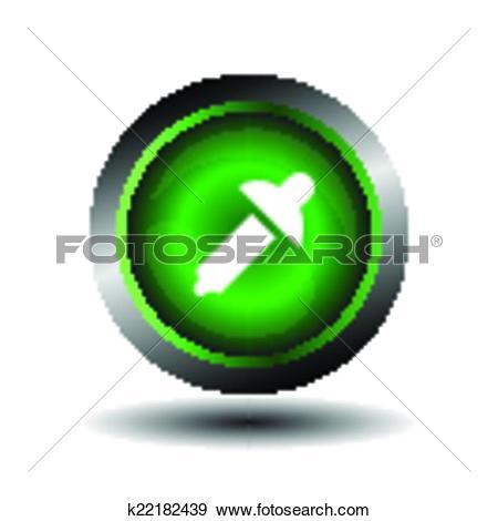 Clip Art of Color picker button sign vector. k22182439.