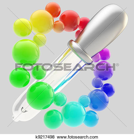 Stock Illustration of Gradient color picker icon isolated k9217498.