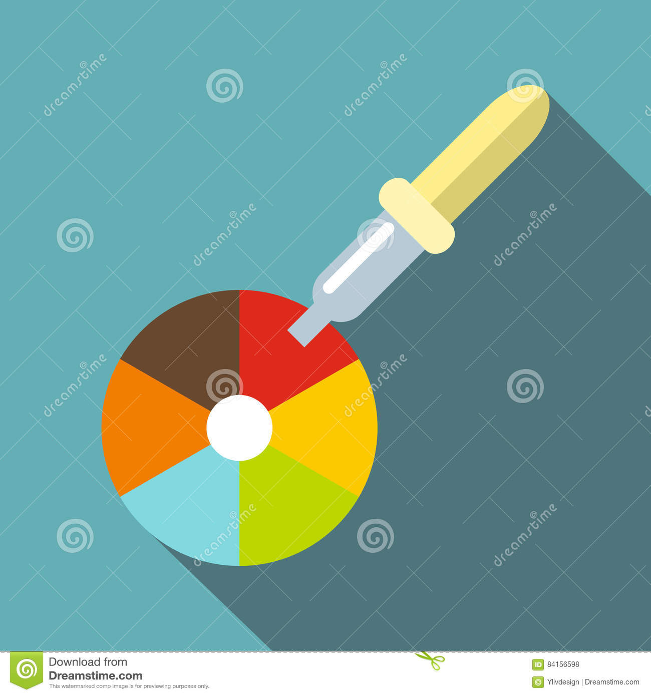 Color Picker Icon Stock Photography.