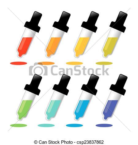 Clip Art Vector of Color picker pipette.