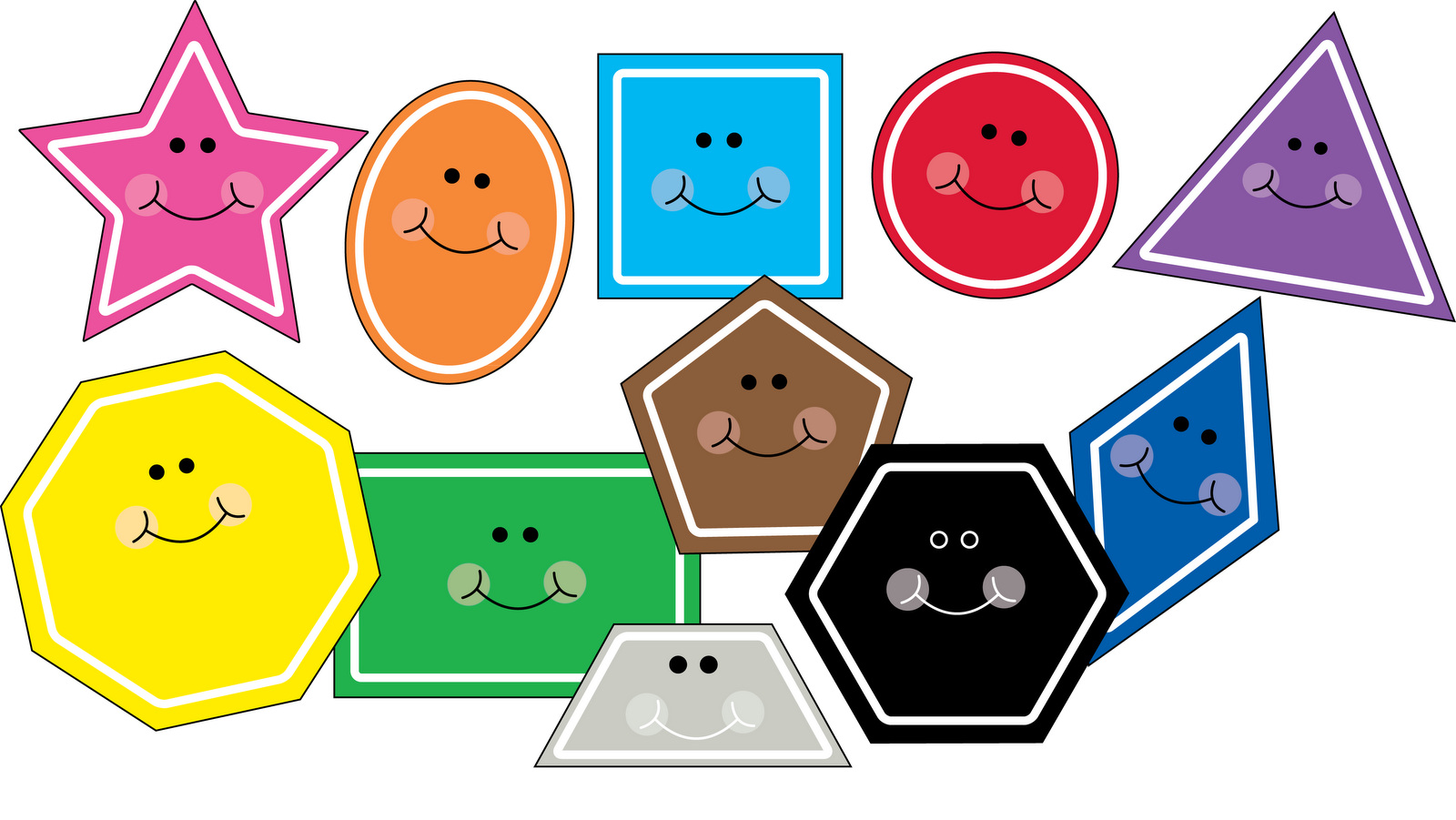 Shapes And Colors Clipart.