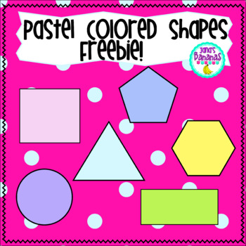 Freebie! Shapes Clipart Pastel Colors.