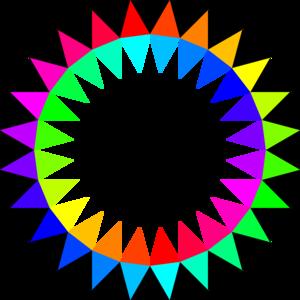 Rainbow Colors Clip Art at Clker.com.