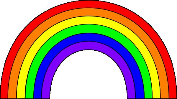 Rainbow clipart color.