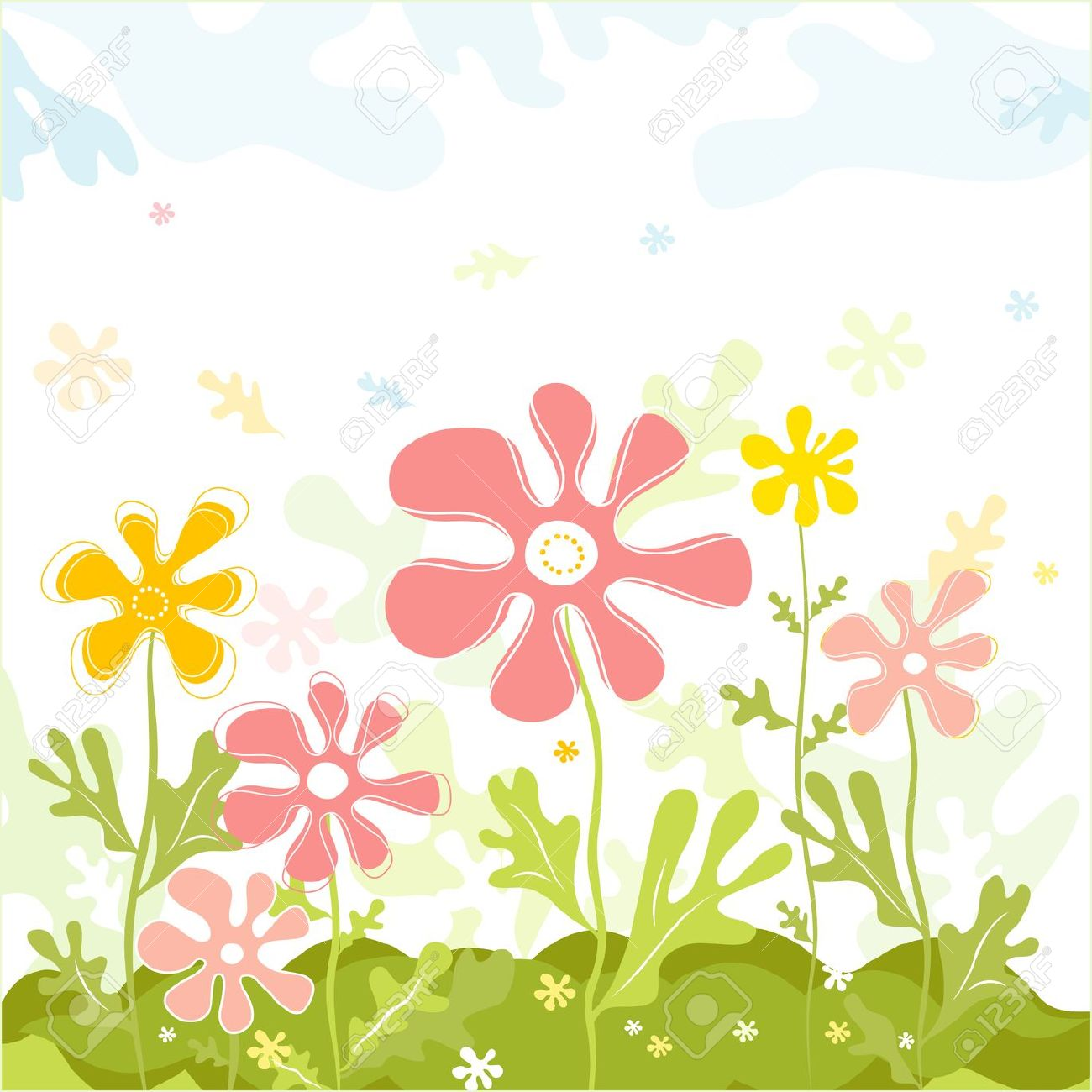 Color spring clipart.