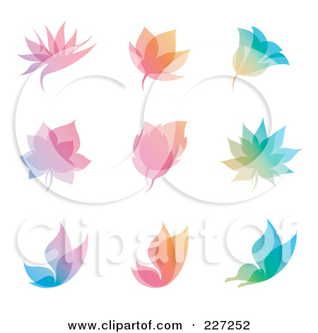 Clipart of a Ring of Colorful Butterflies with Copyspace.
