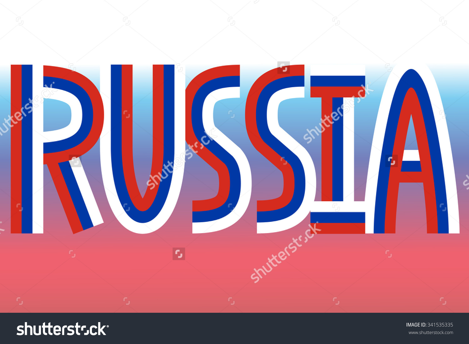 Russia Inscription Made In Colors Of Russian Flag Stock Vector.