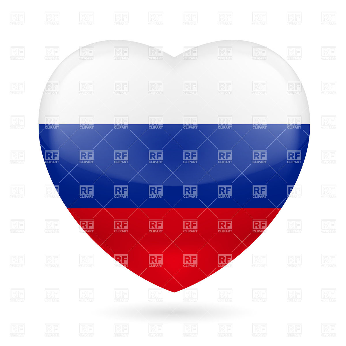 Heart with Russian flag colors. I love Russia Vector Image #31825.