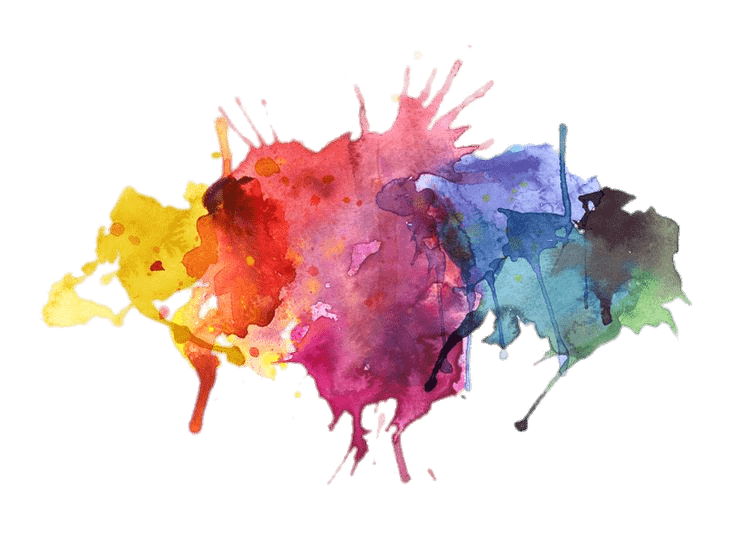 Water Colors Paint Splatter transparent PNG.