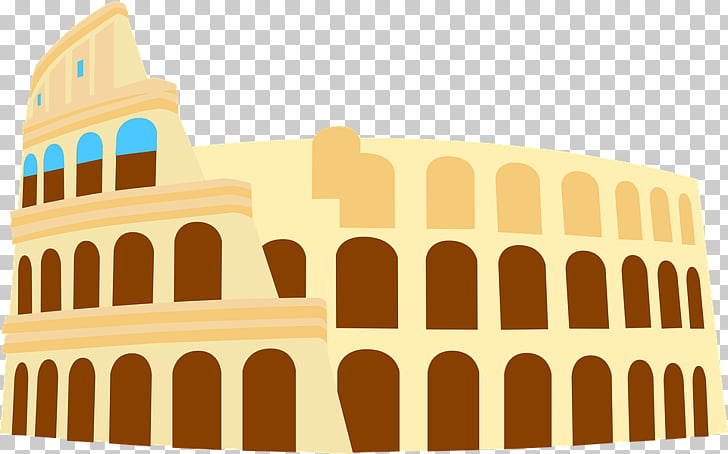 Colosseum Graphic, Colosseum, Rome art PNG clipart.