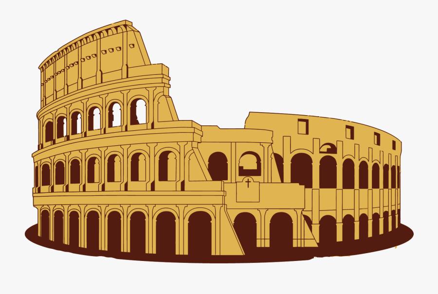 Colosseum Rome Cartoon Free , Free Transparent Clipart.