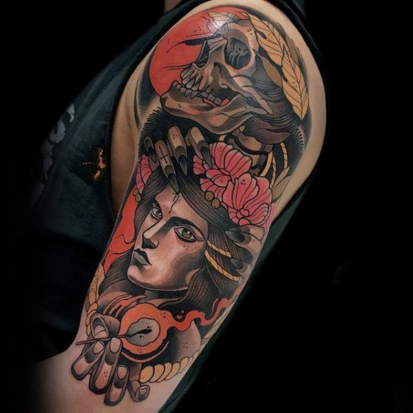 70 Colorful Tattoos For Men.