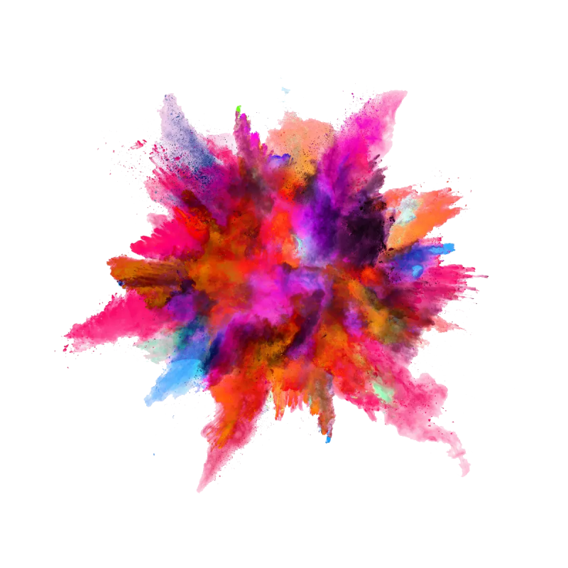 Color Powder Explosion PNG Image.