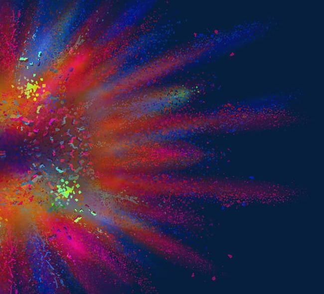 Cool Powder Explosion Decoration. PNG, Clipart, Blast, Colour, Cool.