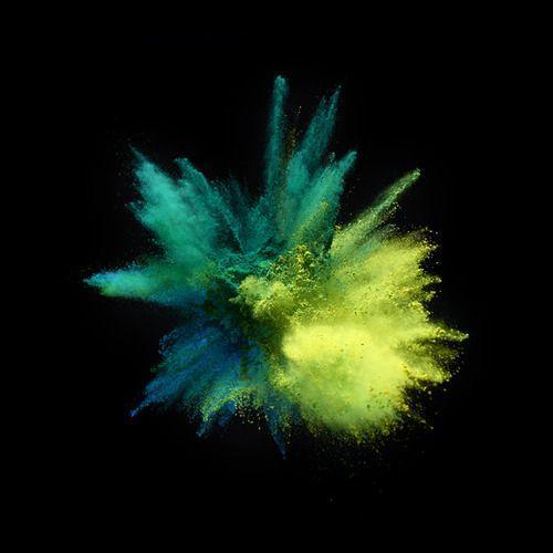 powder color blast.
