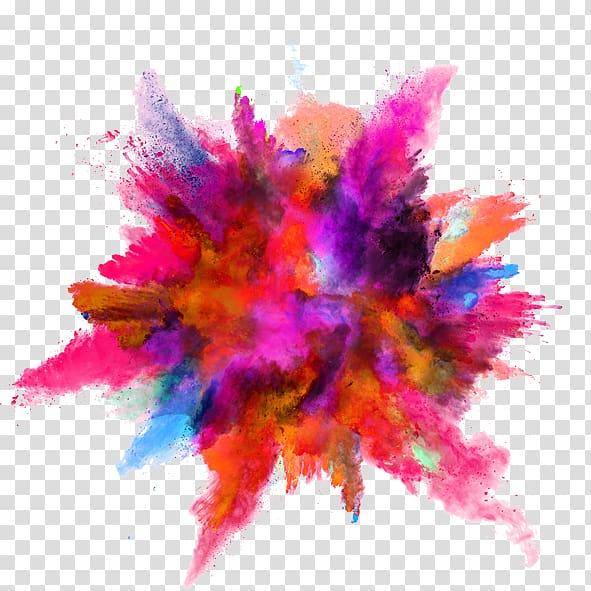 Color Powder Explosion, Color ink splash, assorted.