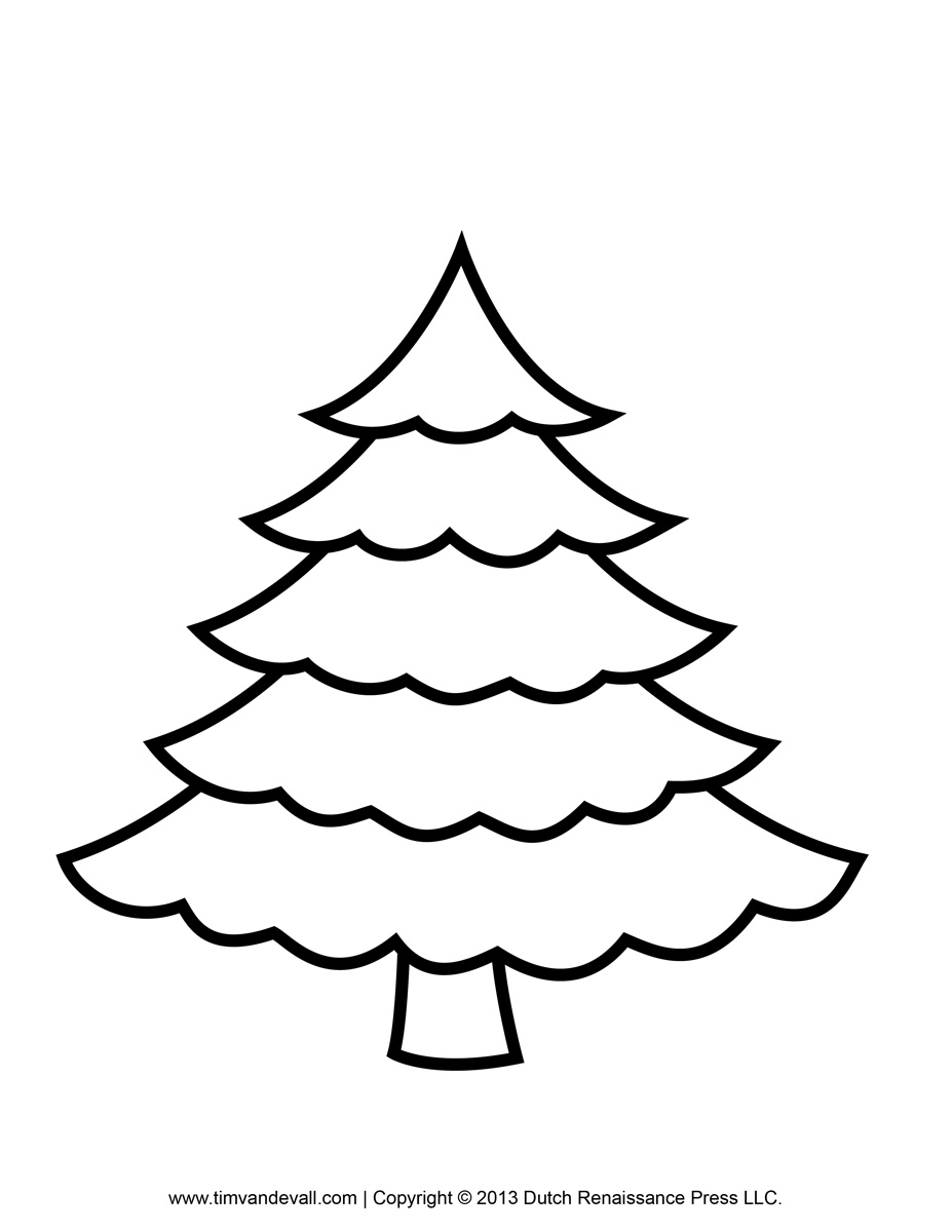 Christmas To Color Clipart.