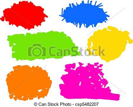 Clip Art of Colour Splats.