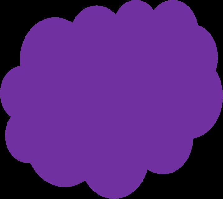 Clipart in purple colour.