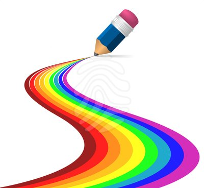 Colour pencils clipart 2.