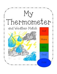 Temperature thermometer for kindergarten clipart.