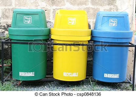 Stock Image of waste segregation.