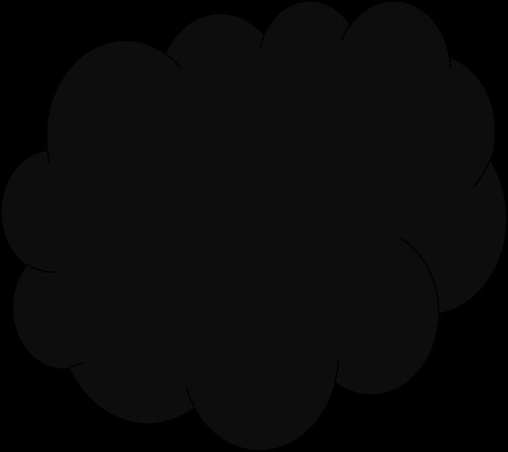 Black colour clipart.