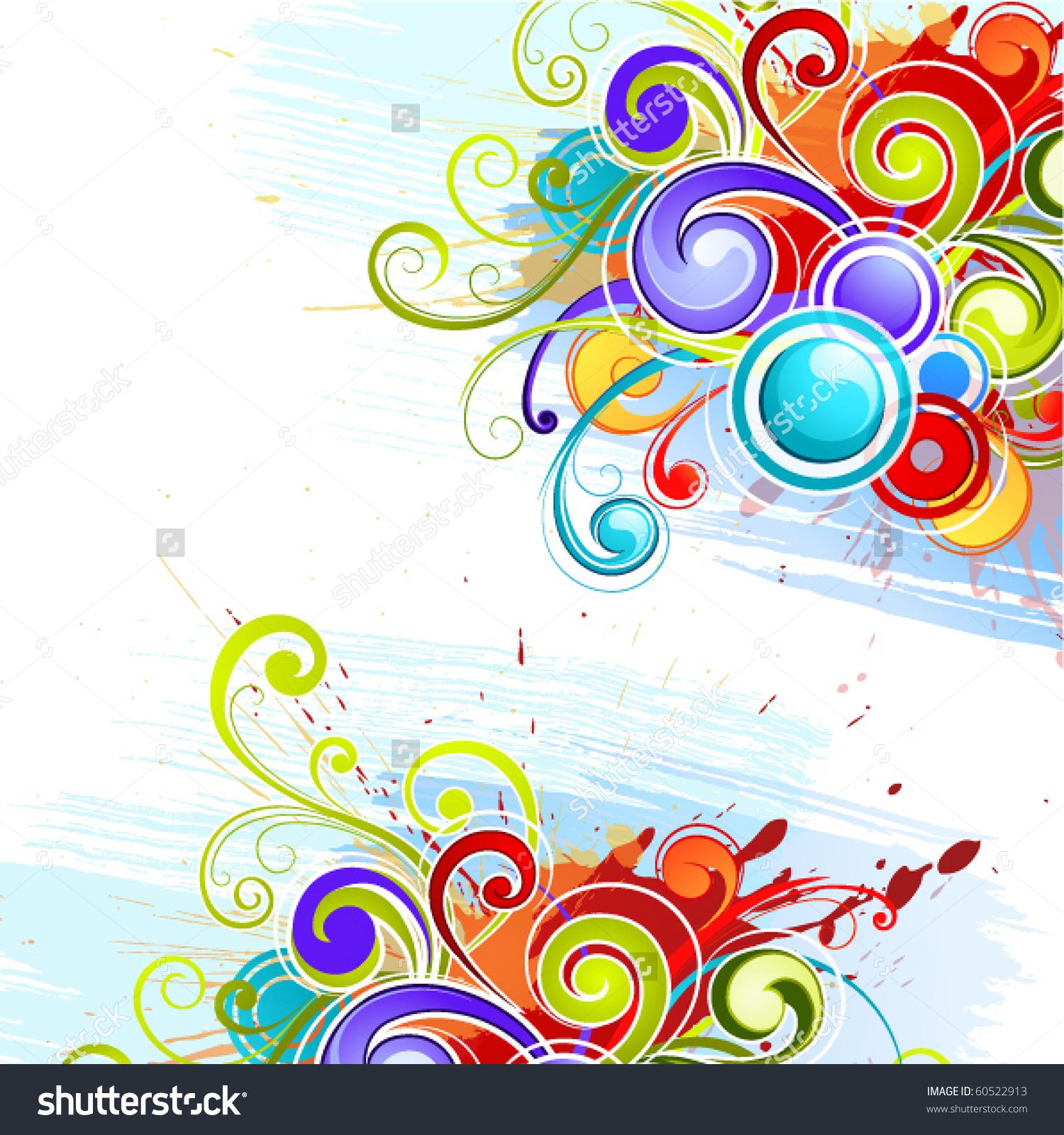 Colour Composition Stock Vector Illustration 60522913 : Shutterstock.