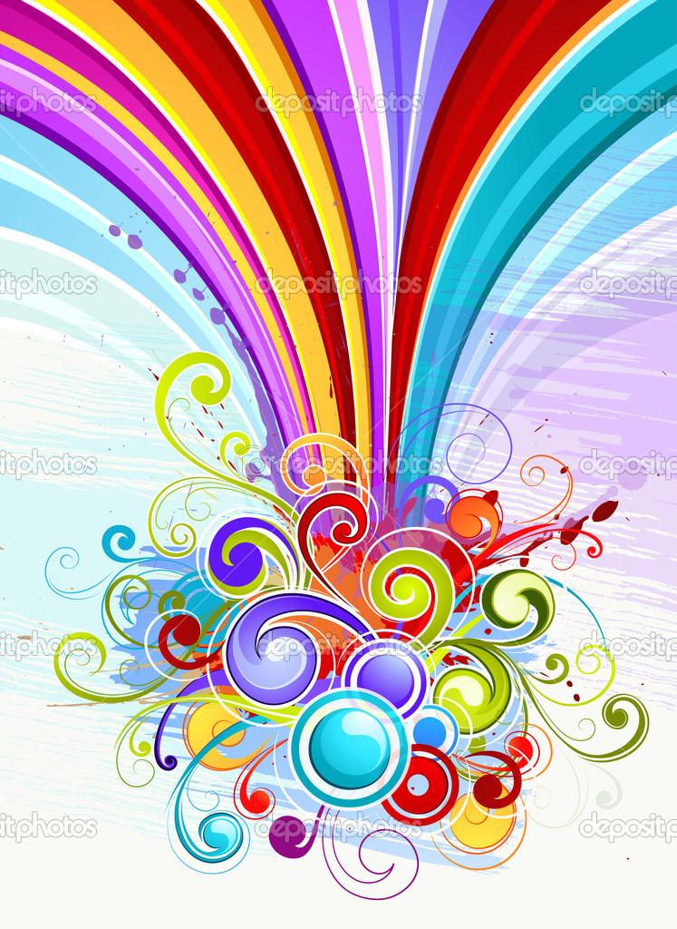 Colour composition — Stock Vector ©.