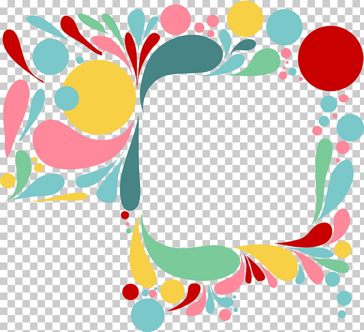 Color drop frame, multicolored borderline PNG clipart.