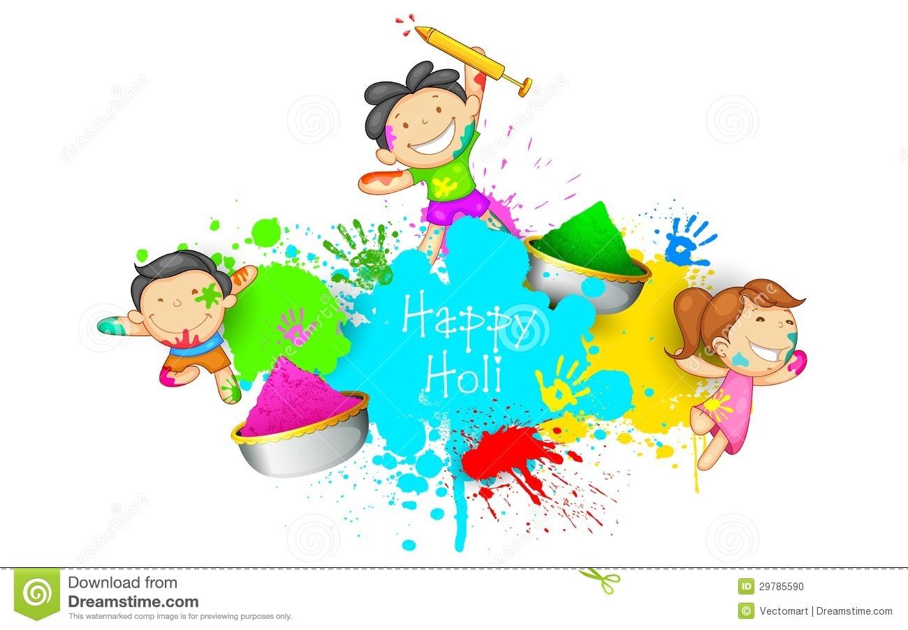 Holi colours clipart.