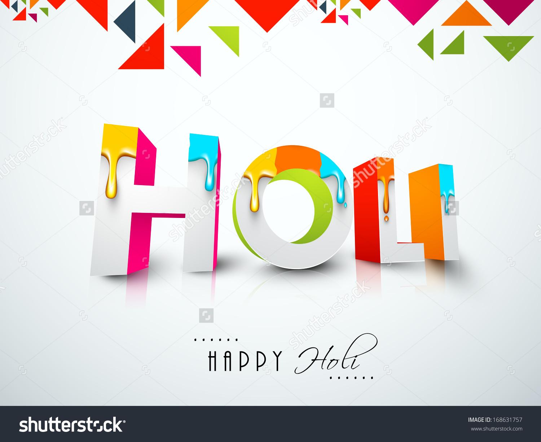 Indian Color Festival Holi Celebration Background Stock Vector.